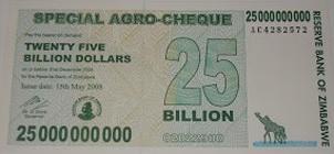 El billete del trillón de dólares (Zimbabue, 2008)