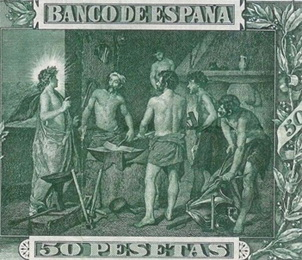 Diego Velázquez: El billete de 50 pesetas de 1902