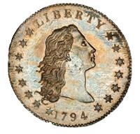 """Expuesto el dólar plata """"Flowing Hair"""" de 1794, valorado en 10 millones de dólares"""