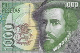 Las 1.000 pesetas de Hernán Cortés de 1992