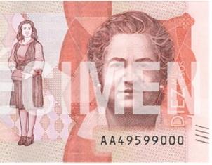 La antropóloga Virginia Gutiérrez de Pineda, imagen de los nuevos billetes de 10.000 pesos colombianos