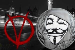 La máscara antisistema de Guy Fawkes en Islas Cook