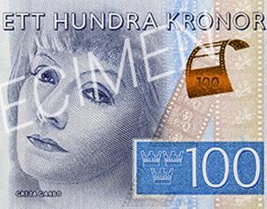 Greta Garbo, del celuloide al papel en 100 coronas suecas
