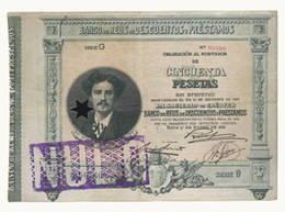 Los billetes del Banco de Reus de Descuentos y Préstamos