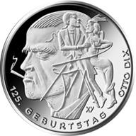 """Otto Dix, el artista alemán del """"Neue Sachlichkeit"""" en 20 euros plata"""