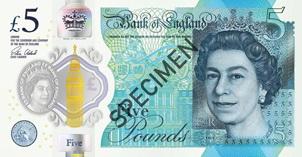 Polémica en Gran Bretaña por los nuevos billetes de cinco libras