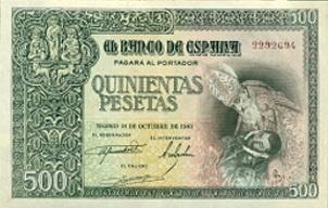 Dom�nikos Theotok�poulos y Toledo: El billete de 500 pesetas de 1940