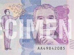 García Márquez se asoma al billete de 50.000 pesos