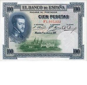 Felipe II y su gran obra: El Monasterio de El Escorial en el Billete de 100 pesetas de 1925