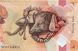 20 Kina para el 40 Aniversario de la Independencia de Papúa Nueva Guinea