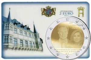 15 Aniversario del acceso al trono de Gran Duque Henri de Luxemburgo en 2 euros