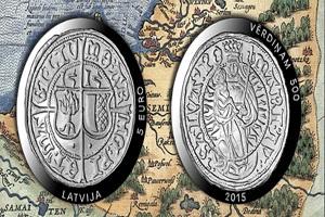 500 Años del ferding de Livonia, unidad monetaria letona del siglo XVI