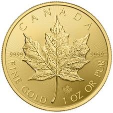 Nuevo diseño en 2015 para el Maple Leaf de oro