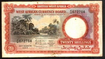 British West Africa: Chelines de mediados del siglo XX