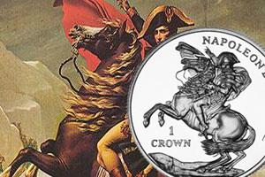 1 Crown para el bicentenario del exilio de Napoleón en Santa Elena