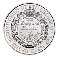 Monedas conmemorativas de 5 libras para la hija de los duques de Cambridge