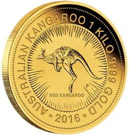 Los bullion de oro para 2016: Canguro y Año del Mono