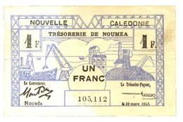 """Históricos Bonos de Caja de Nueva Caledonia 1943 """"Trésorerie de Noumea"""""""