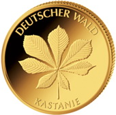 20 Euros en oro para los castaños del bosque alemán