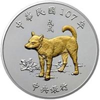 Año del perro en las monedas de Taiwan