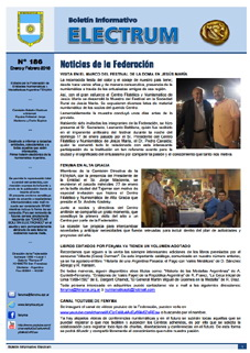 "Boletín ""Electrum"" nº 186, enero-febrero 2016"