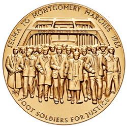 """La medalla de oro del Congreso para la """"Marcha de Selma"""""""