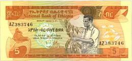 Etiopía 5 Birr 1976 vs. 5 Birr 1998