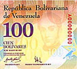 Venezuela se inunda de billetes de 100 y 50 bolívares