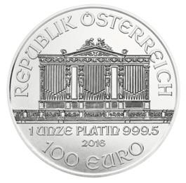 """El mundialmente famoso bullion """"Filarmónica de Viena"""" ahora en platino"""