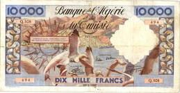 Argelia y Túnez 10.000 Francos 1957 vs. Argelia 100NF 1959