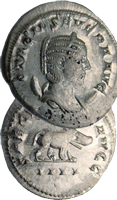 Más de 3.000 denarios del siglo III d.C. hallados en Inglaterra