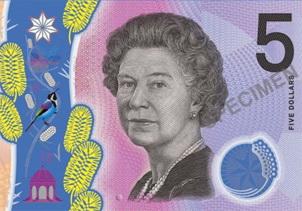 Polémica por los 5 dólares australianos en polímero
