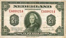 Holanda 2 ½ gulden de 1943 vs. 2 ½ gulden de 1945