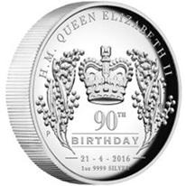 Plata australiana para Isabel II en su 90 cumpleaños