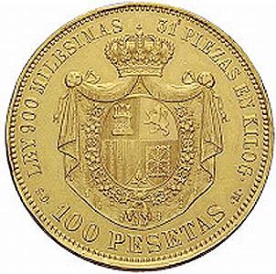 Las 100 pesetas de 1870, de mito a realidad