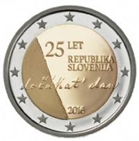 25 Aniversario de la Independencia de Eslovenia en 2 euros