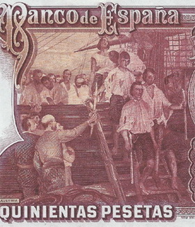 Juan Sebastián Elcano en las 500 pesetas de 1931