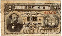 Argentina, 5 Centavos de Peso de 1884 vs. 5 Centavos de Peso de 1892