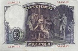 """Eduardo Rosales y """"La Muerte de Lucrecia"""": el billete de 50 pesetas de 1931"""