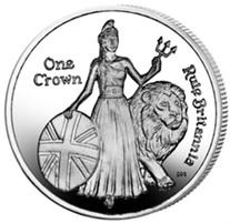 """1 Corona de Isla Ascensión para el himno """"Rule Britannia"""""""