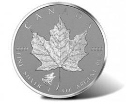El Maple leaf canadiense de plata 2016, con cabeza de lobo, ya está agotado