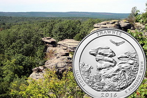 """Quarter dollar"" para el Shawnee National Forest, de Illinois"