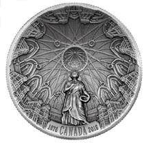 Formato cóncavo para la cúpula de la Biblioteca del Parlamento de Canadá