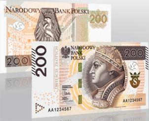 Nuevo billete de 200 zloty en Polonia