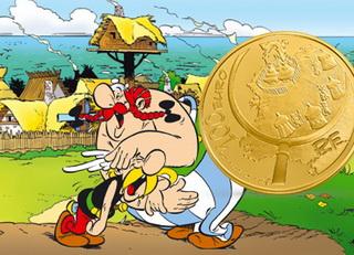 Astérix y Obélix en euros de oro y plata