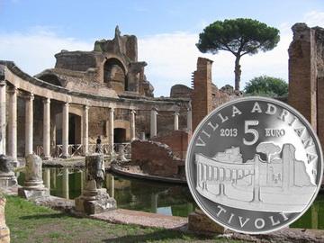 Villa Adriana-Tivoli en 5 euros plata
