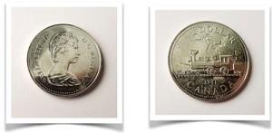Moneda de Canada conmemorativas al ferrocarril