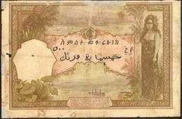 500 francos del Banco de Indochina de 1927 que circuló en Djibouti (Yibuti)