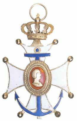 La Cruz de Marina Laureada y la Diadema Real de la Marina