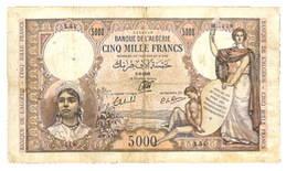 Argelia 5.000 Francos de 1942